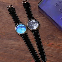 Free shipping couple watches pair men and women star sky wrist Watch QW17