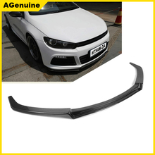 High polish real carbon fiber front end diffuser apron front bumper spoiler lip for Volkswagen VW Scirocco R