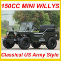 150CC Mini Willys Jeep--Classical US Army Style