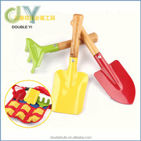Custome promotion gift manual children garden tools set with PE bag lovely outside play tool for kids