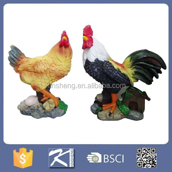 2017 Russia rooster shaped resin garden figurines for sale