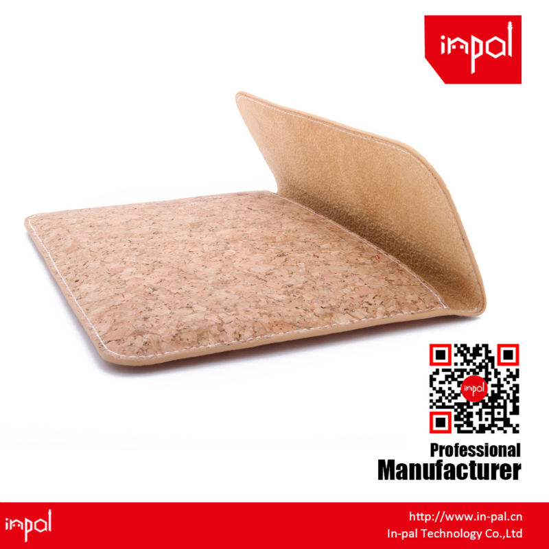 New arrivals well-stitched protective envelope cork leather envelope Clutch case for apple ipad mini