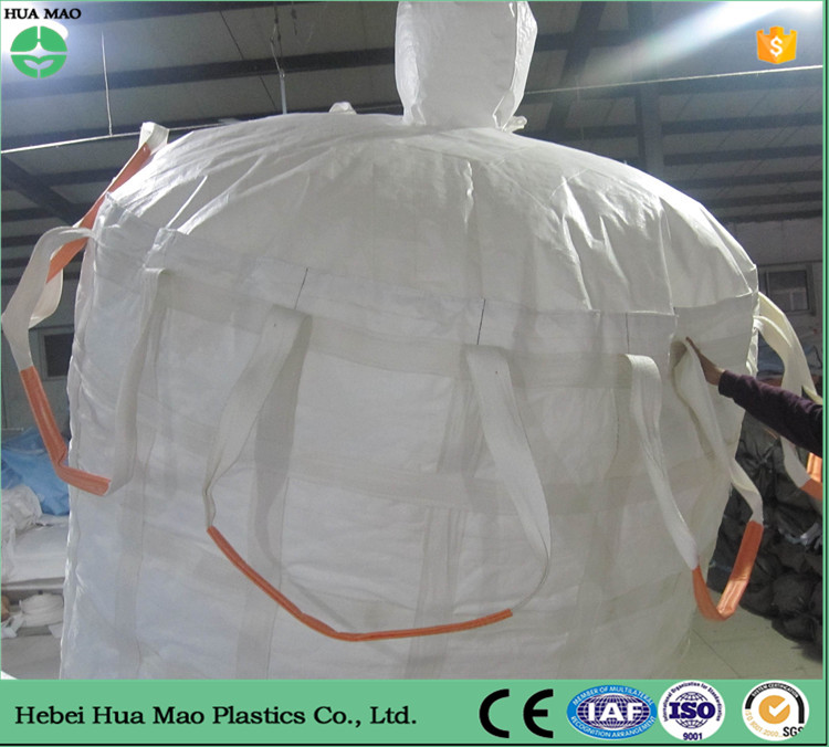 Hebei Duffle Top Flat Bottom 1 Ton Big Bag Jumbo Big Bag Fibc Bag For Pellet