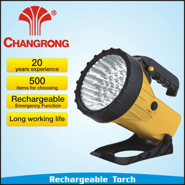 RECHARGEABLE LED BATTERY POWER TORCH SPOTLIGHT SEARCH LIGHT FLOOD NEW