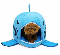 Pet bed,Shark Round Washable Soft Cotton Dog Pet Bed