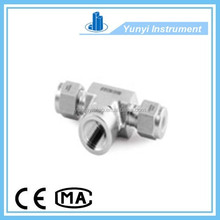 stainless steel 3-way corner female threaded pipe fitting