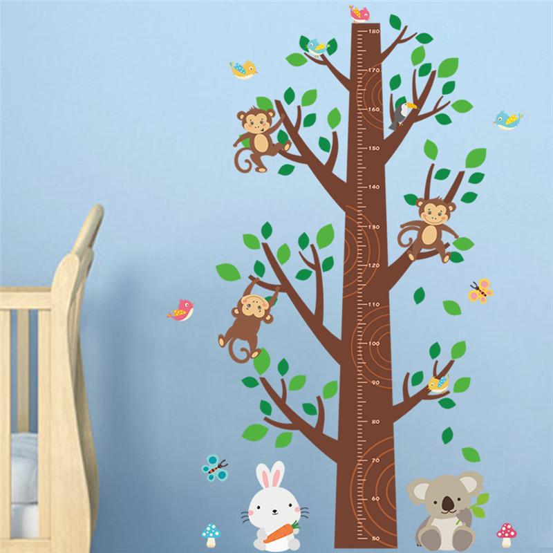 mono climb tree nueva diseado altura medida calcomanas para nios habitacin