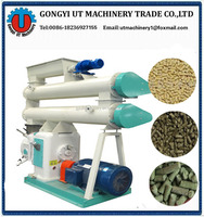 Mobile Auto lubrication mini cow animal fodder feed pellet mill/livestock cattle poultry small feed pellet mill Processing line