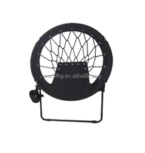 Folding round spring bungee chair,moon chair