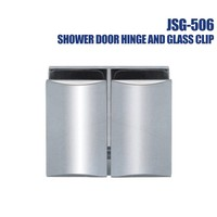 Square 360 Glass Glass Hinge Shower