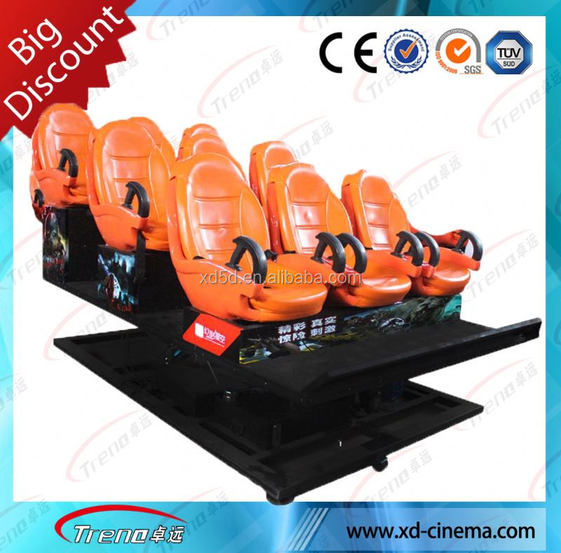 Fashionable Hydraulic / Electric System 5d Simulator 5d Interactive Cinema 5d Cinema Equipment 5d cinema 4d cinema system
