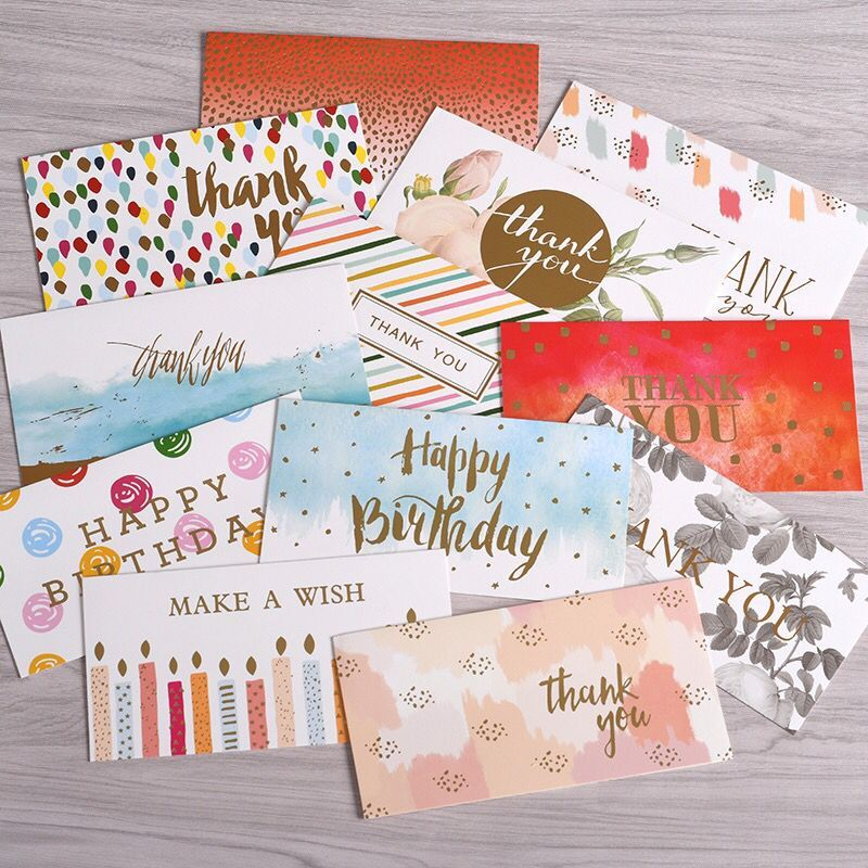 Hot Sale Customized Colorful Greeting Cards Thanks Cards