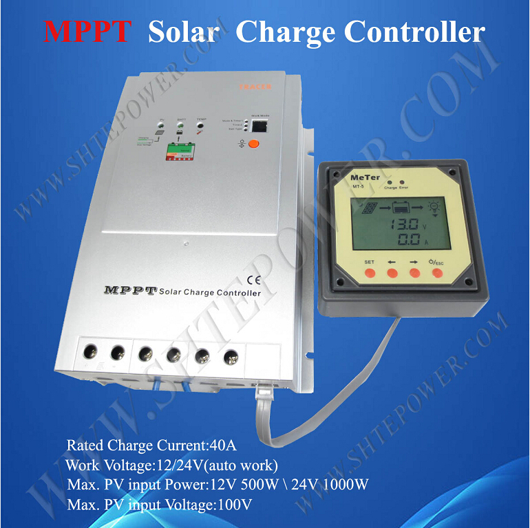 Tracer 4210RN dc to dc solar battery charge 12v 24v 40a mppt charger controller