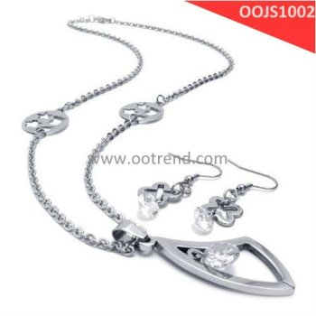 Polished natural fashion jewelry set ,silver bridal jewelry set paypal