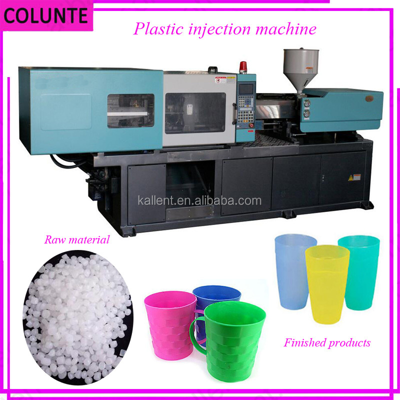 Disposable plastic injection molding machine