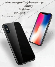 Bumper Metal Magnetic Protect <strong>Case</strong>, Magnetic Housing Cover for Iphone X