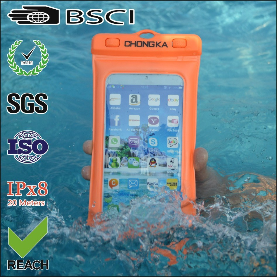 for htc one v waterproof mobile phone case