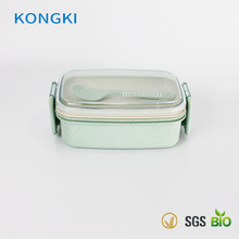 Eco-friendly Rectangle Food Container Biodegradable Wheat Straw Materials