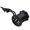 Waterproof 12v dual USB Car Motorcycle Cigarette Lighter Plug led light