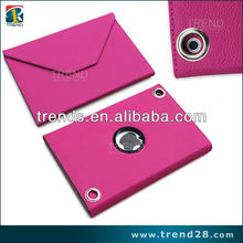 2013 new litchi 360 degree rotate leather tablet case for ipad mini