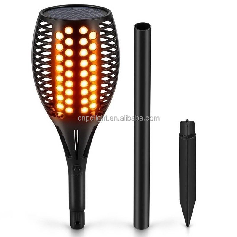 Outdoor Lighting Rechargeable LED Flickering landscape Flame Solar Torch Light