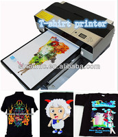 multifunction direct inkjet digital t-shirt printing machine /heat transfer flated t shirt printing machine in factory