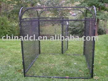 kennel fence iron fence dog kennel