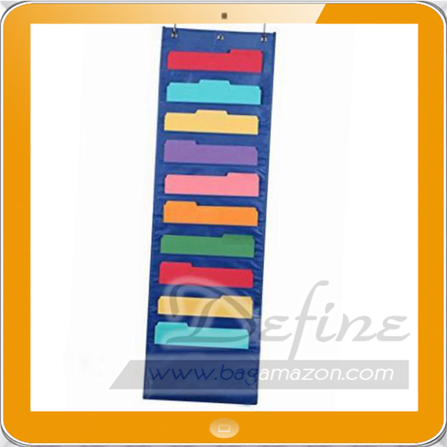 Hanging Files Pocket Chart Wall Folders Cascading Organizer