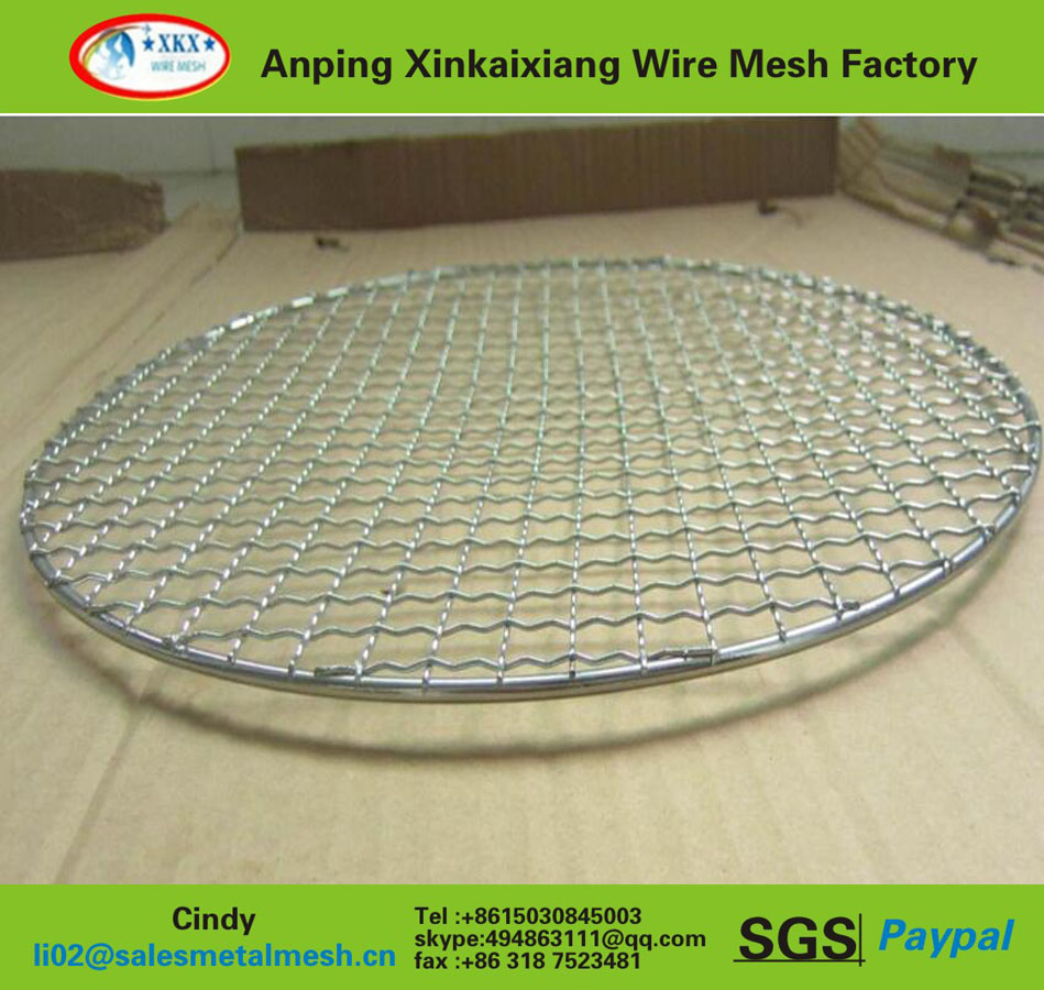 hot sale German 304 stainless steel barbecue grill wire mesh for chicken duck roast (China manufacturer)