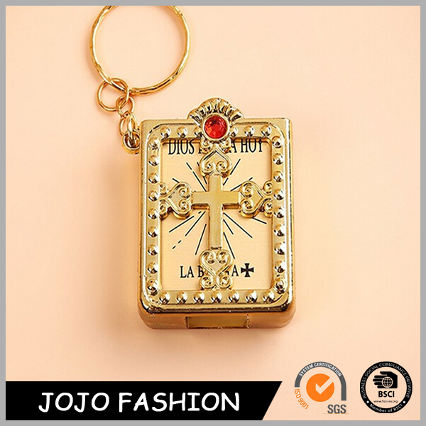 Professional Manufacturer Gold Plated Custom New Mini Bible Fashion Keychain