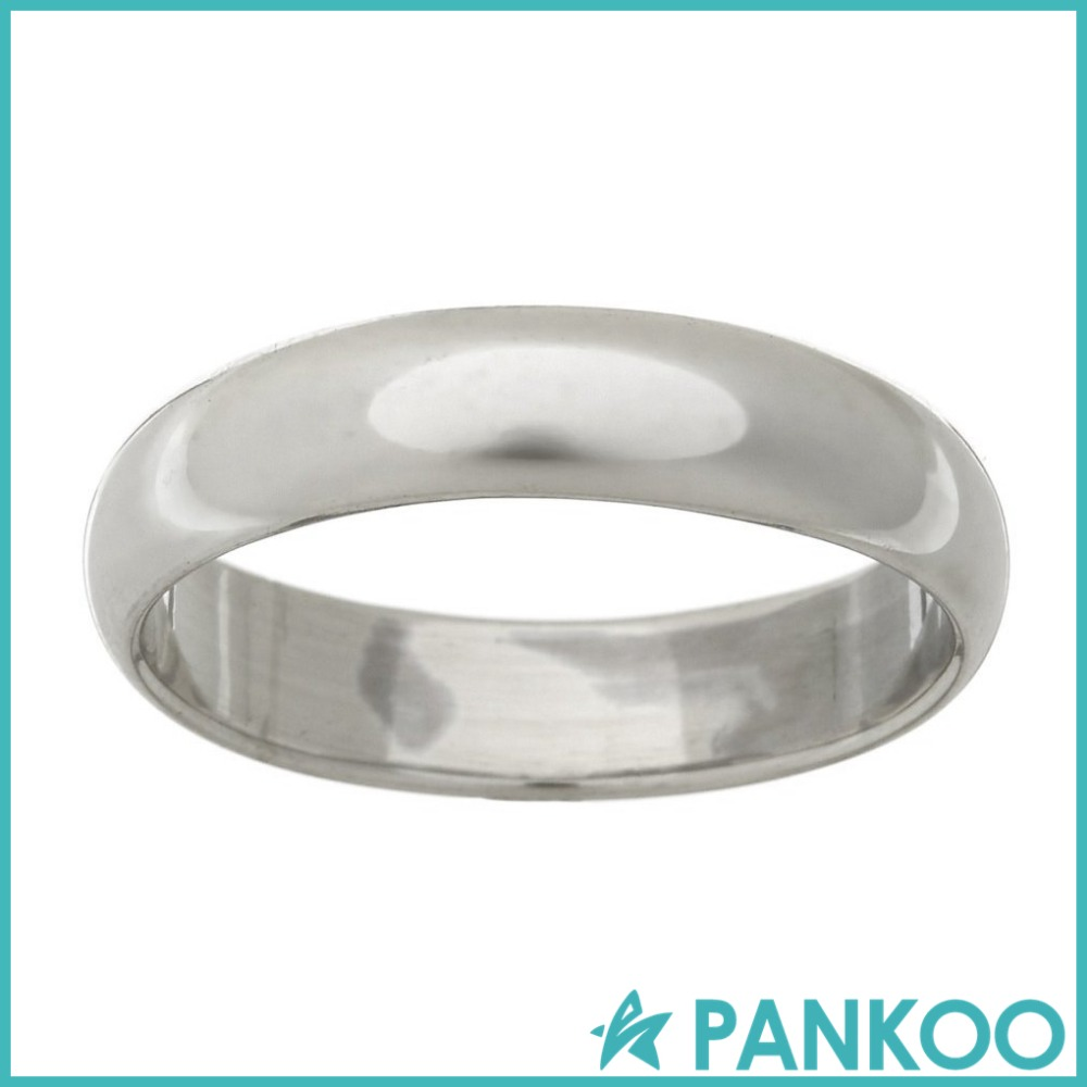 925 Sterling Silver Plain 5mm Band Ring