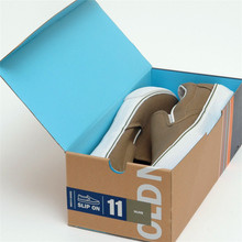 Plain Recycled kraft cardboard draw with lid shoe boxes