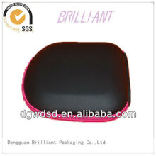 2013 China Black PU Cover EVA CD Case With Pink Zipper