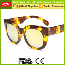 2016 new style big frame women driving TR90 polarized wholesale cat eye sunglasses