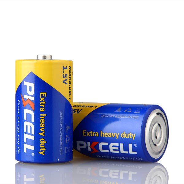 D size dry cell r20 battery 1.5v um1 from Pkcell