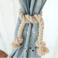 Handmade Knitted Cotton Home Decor Curtain Accessories Tassel Tie Back Living Room Curtain Rope Home Decoration J-R185