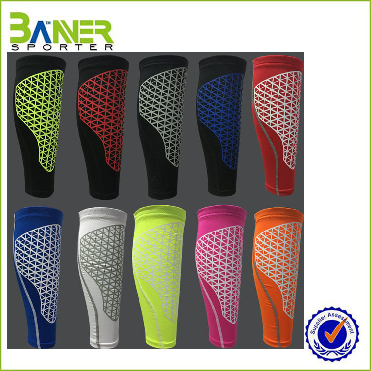 2017 high quality sport cycling calf compression sleeve