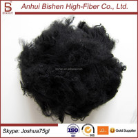 Black Polyester Staple Fiber For nonwoven