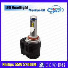 Automobiles 55W 12V LED Headlight P6 HB3 HB4 9012 5200LM High Output Car LED Headlight