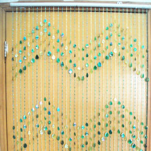 AM2248 wedding decoration aqua heart bead curtain
