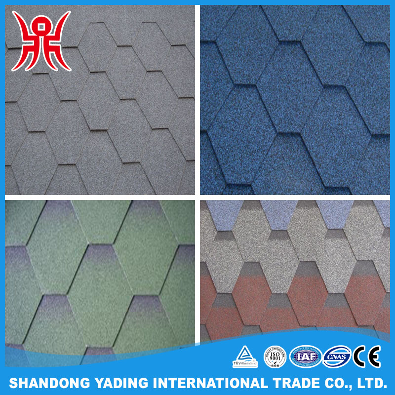 Hexagonal Type Mosaic Bitumen Roof Shingles