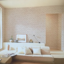 New home hotel wall decoration 3d bamboo mat design wallpaper