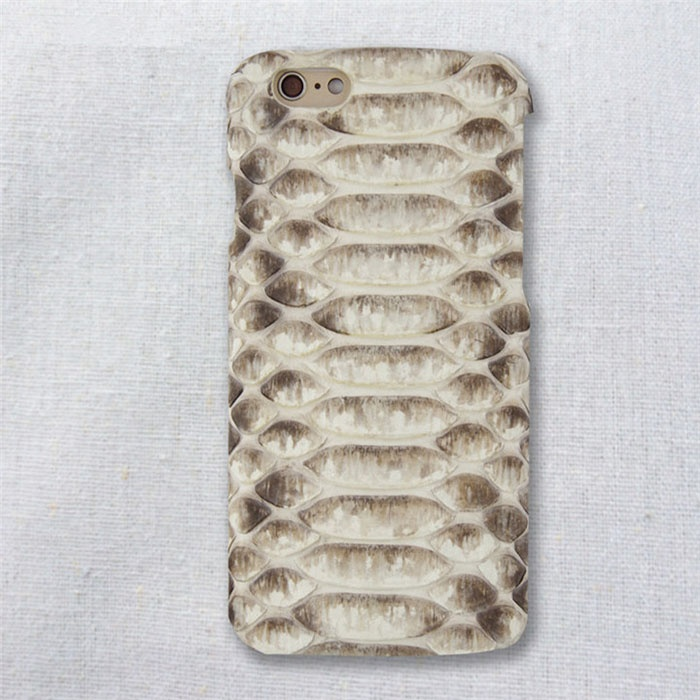 China for Simple Phone Case Real Python Leather High Quality