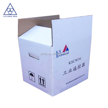 Printed white corrugated paper mailer box