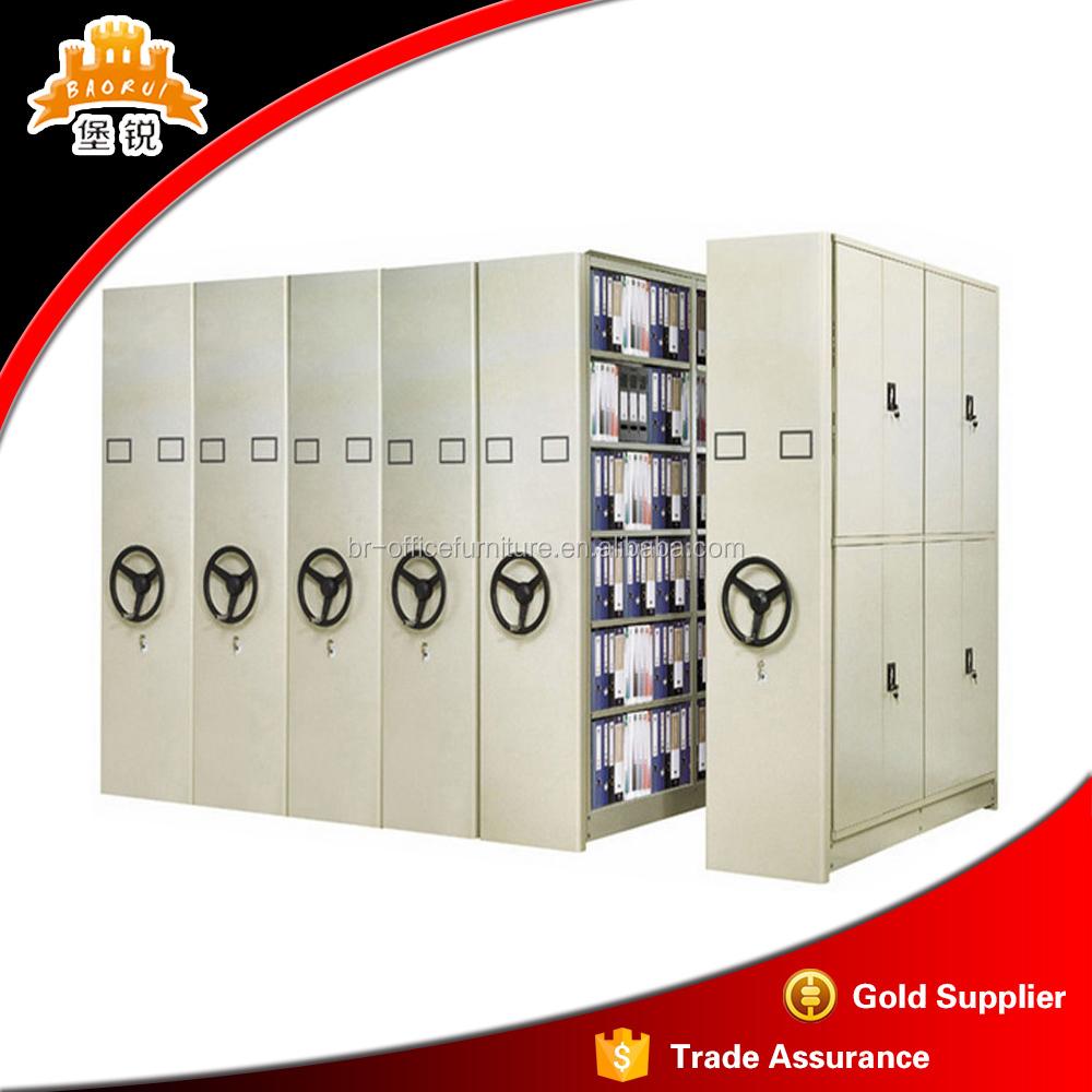 Mass Compactor Shelving School Library Movable Bookshelf