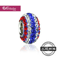 best Selling colorful full Pave Diamond shamballa beads high quality clay pave beads wholesale on Alibaba