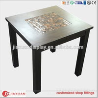 Square mosaic coffee table apparel nesting table wood nesting table