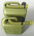 OEM Blow Molding plastic PE jerry cans, oil fue cans ,5L and 10L Army green plastic bottles
