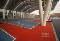 ZSFloor PP interlocking tile basketball outdoor and indoor court flooring