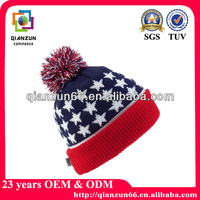 Fashion Acrylic Ski Knitted Hat American Flag Beanie IN STOCK
